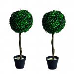 solar powered artificial topiary tree lights