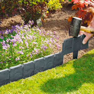 garden edging cobbled stones